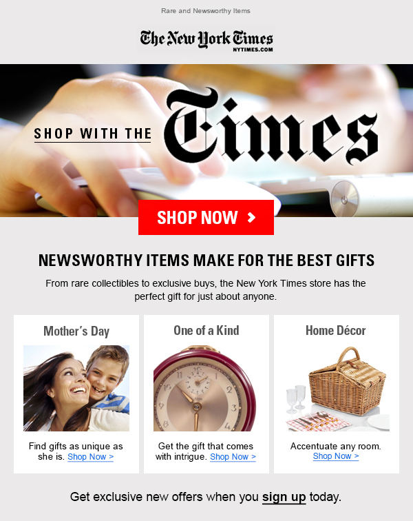 The Times Perfect Companion Email Campaign - Template Design By Jessica Willard