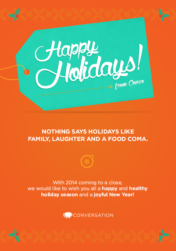 Holiday Card E-blast for Conversation Agency  - Design by Courtney Beaumont
