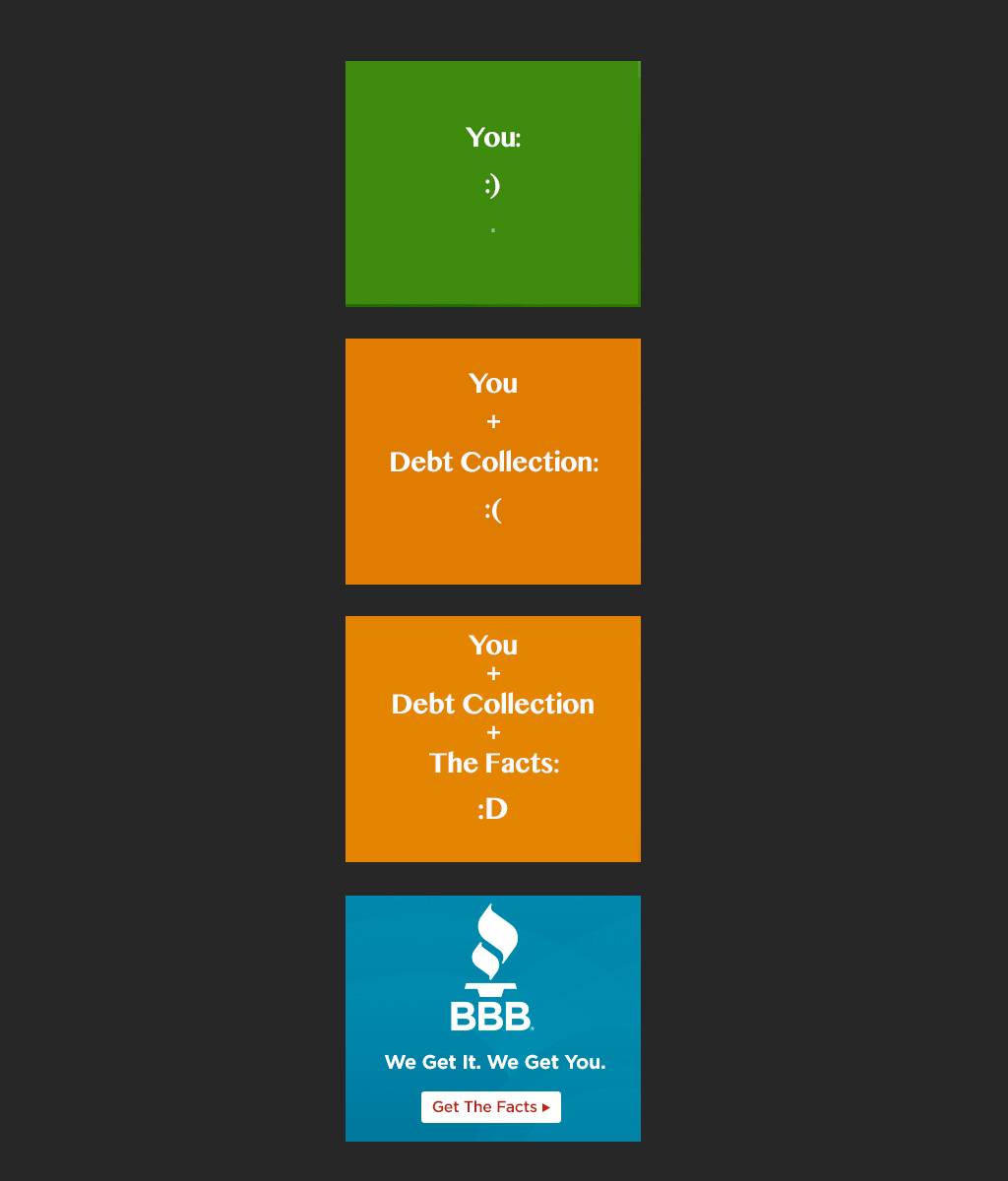 BBB Debt Collection Display Banner - Set Two
