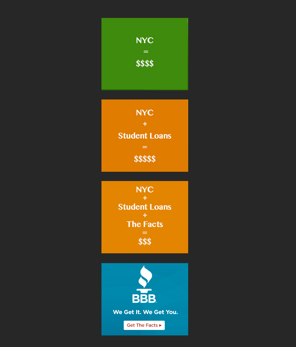 BBB Student Loan Display Banner - Set Two